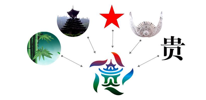 """再巧妙的把贵州苗族代表元素融入""""贵"""" 字之中,使其具备了鲜明的贵州"""